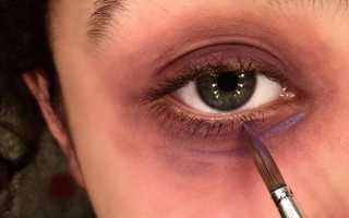 Как сделать синяки под глазами