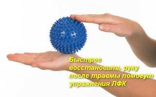 Полный комплекс лфк для лучезапястного сустава