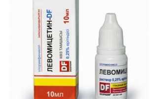 Левомицитиновые капли для глаз инструкция по применению