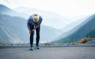 После бега боль в колене