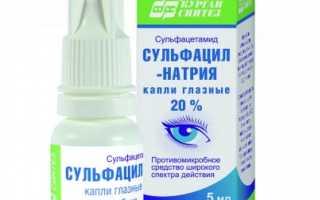 Сульфацил натрия капли для глаз инструкция