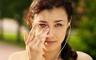 Зуд в глазах причины лечение