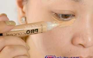 Как замазать синяк от удара под глазом