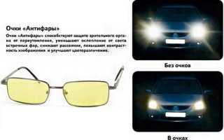 Очки для вождения в темное время суток