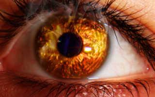 Термический ожог глаза