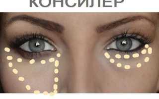 Как замазать синяки под глазами